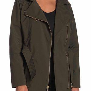 Michael Kors Green Trench Coat Size XL NEW  $220